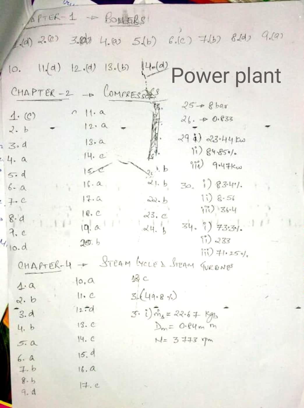 Made Easy Power Plant Engineering Workbook key