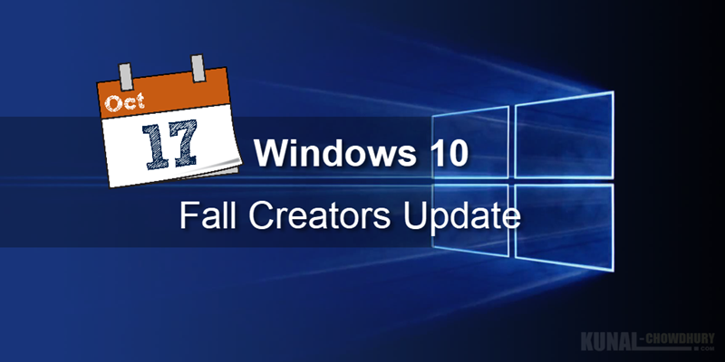 Windows 10 Fall Creators Update will be available worldwide from 17th Oct!