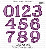 ODBD Custom Large Numbers Dies