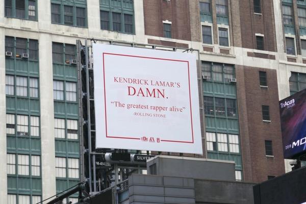 Kendrick Lamar Damn billboard