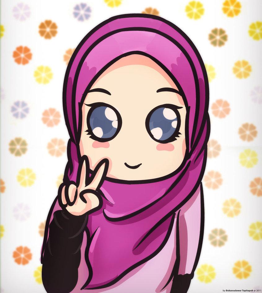 Gambar Kartun Muslimah Imut Lucu Kolek Gambar