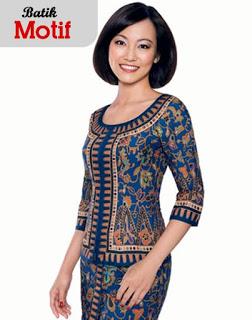 Model Dress Baju Batik Pramugari Terbaru