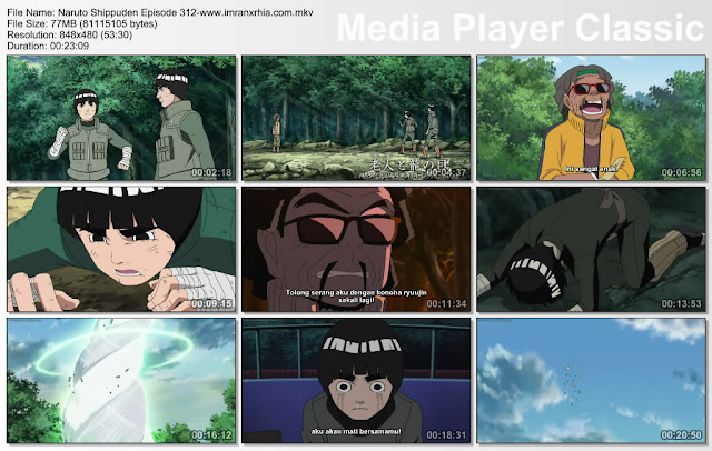 "Download Film / Anime Naruto Episode 312 ""Master dan Sang Mata Naga"" Shippuden Bahasa Indonesia"