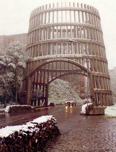Neve na Pipa de Bento Gonçalves