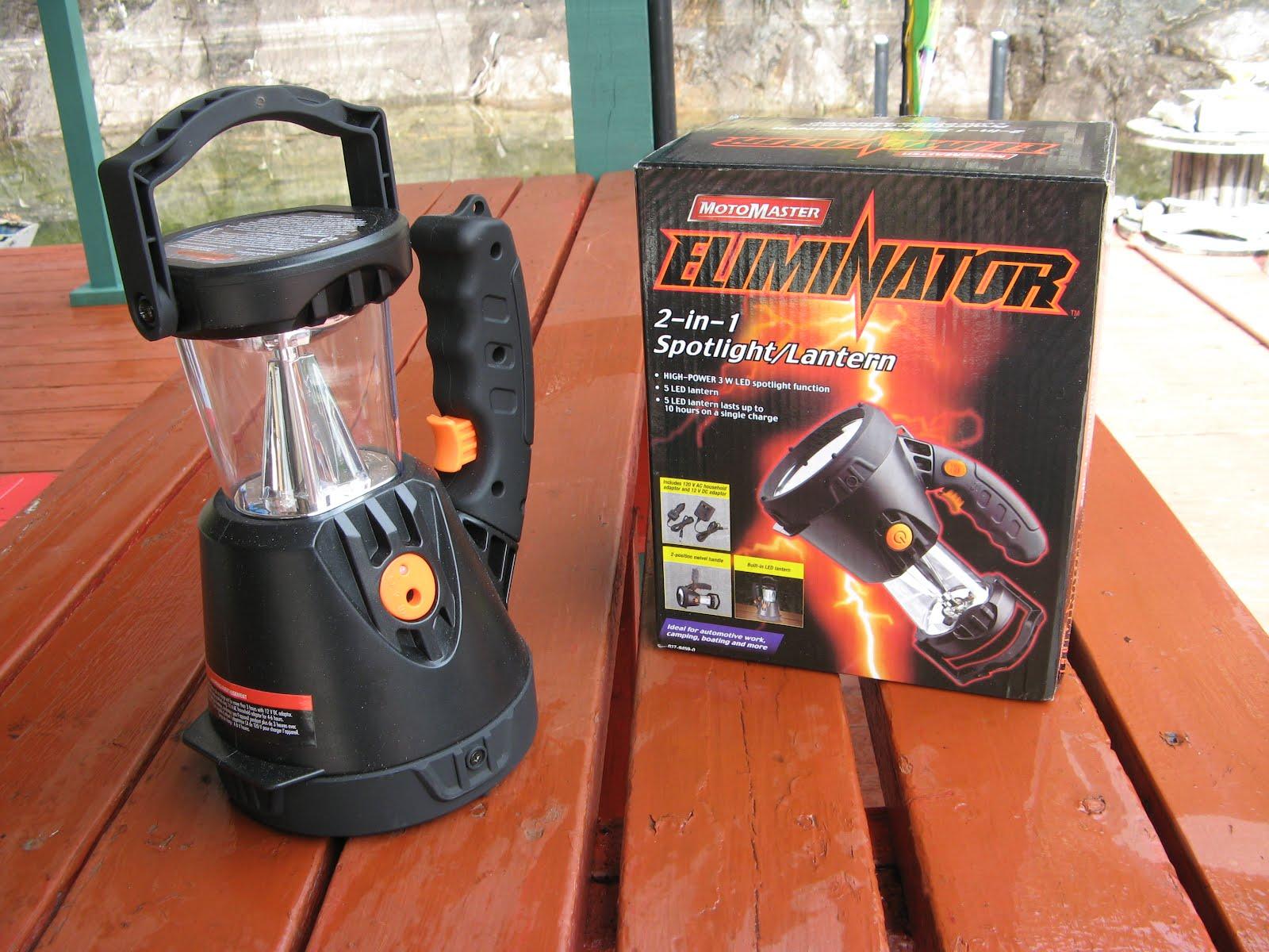 Powell River Books Blog: Eliminator Rechargeable Spotlight/Lantern