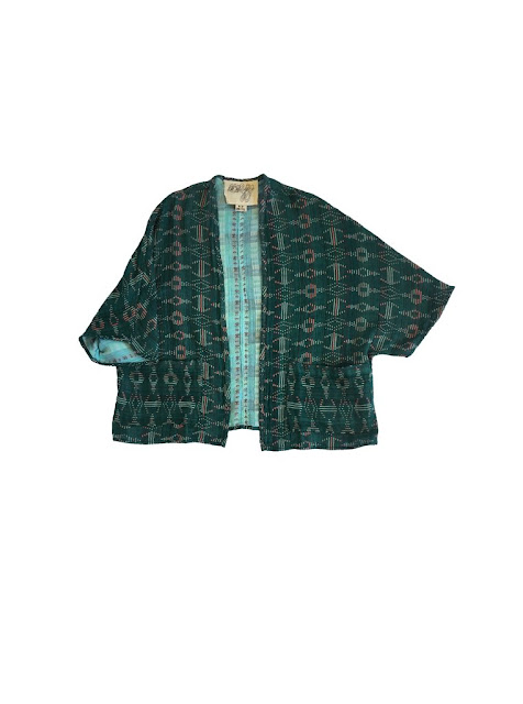 Ace & Jig Capella Cardi in Emerald/Sky - Emerald Side - Webstore Exclusive