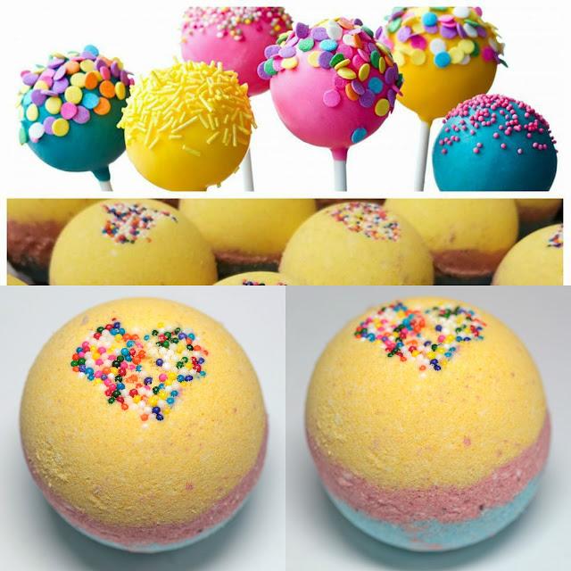Handmade Natural Beauty Great Balls of Cake Bath Bomb