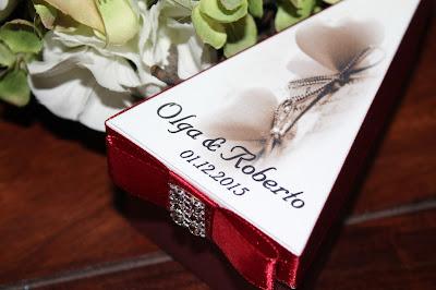 Tortaszelet formájú esküvői meghívó