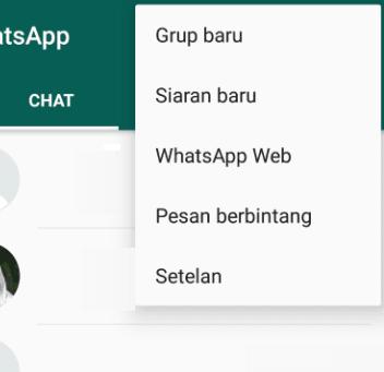 Setelan WhatsApp web
