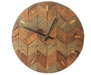 recycled wood clocks for a new apartment wishlist