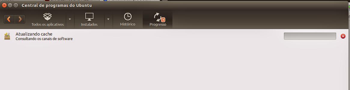 Atualizando o cache de programas