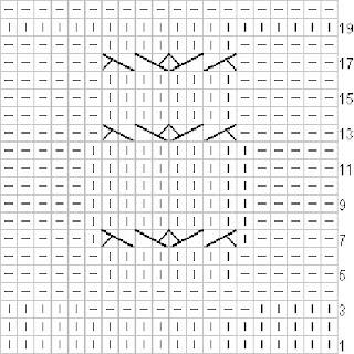 схема на плетения бухал