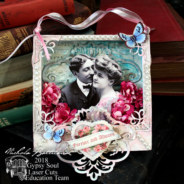 Romantic shadowbox by Nichola Battilana with tutorial