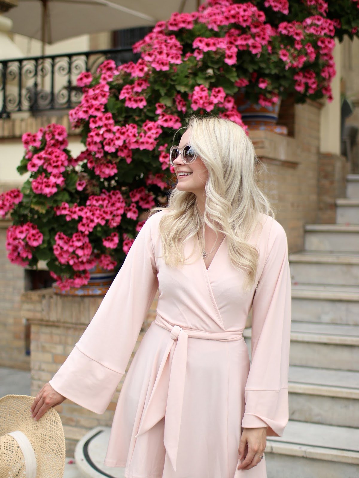 blush aline dress from asos