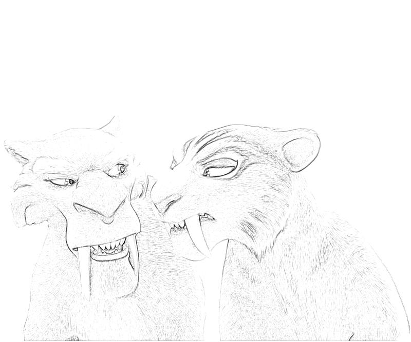 ice age diego coloring pages - photo#41