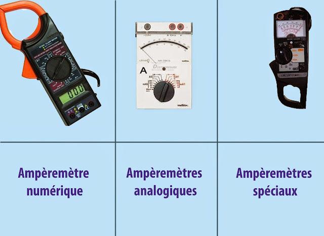 types ampèremètre