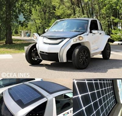 تتحرك هذه السيارة الكهربائية جزئيًا بفضل ألواحها الشمسية