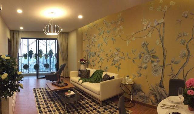 Phòng khách căn hộchung cư Five Star Garden Kim Giang