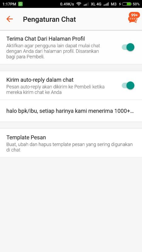 fitur auto-reply chat shopee