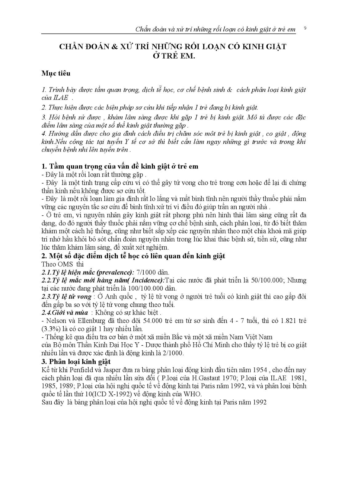 Trang 10 sach Bài giảng Nhi khoa III (Sơ sinh - Cấp cứu - Thần kinh - Chăm sóc sức khỏe ban đầu) - ĐH Y Huế