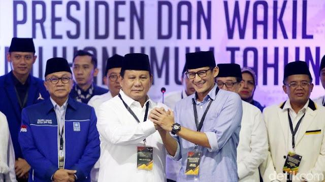 Tim Prabowo-Sandiaga Rapat Konsolidasi Hukum Sore Ini