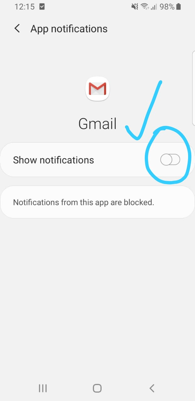 mematikan notifikasi Gmail