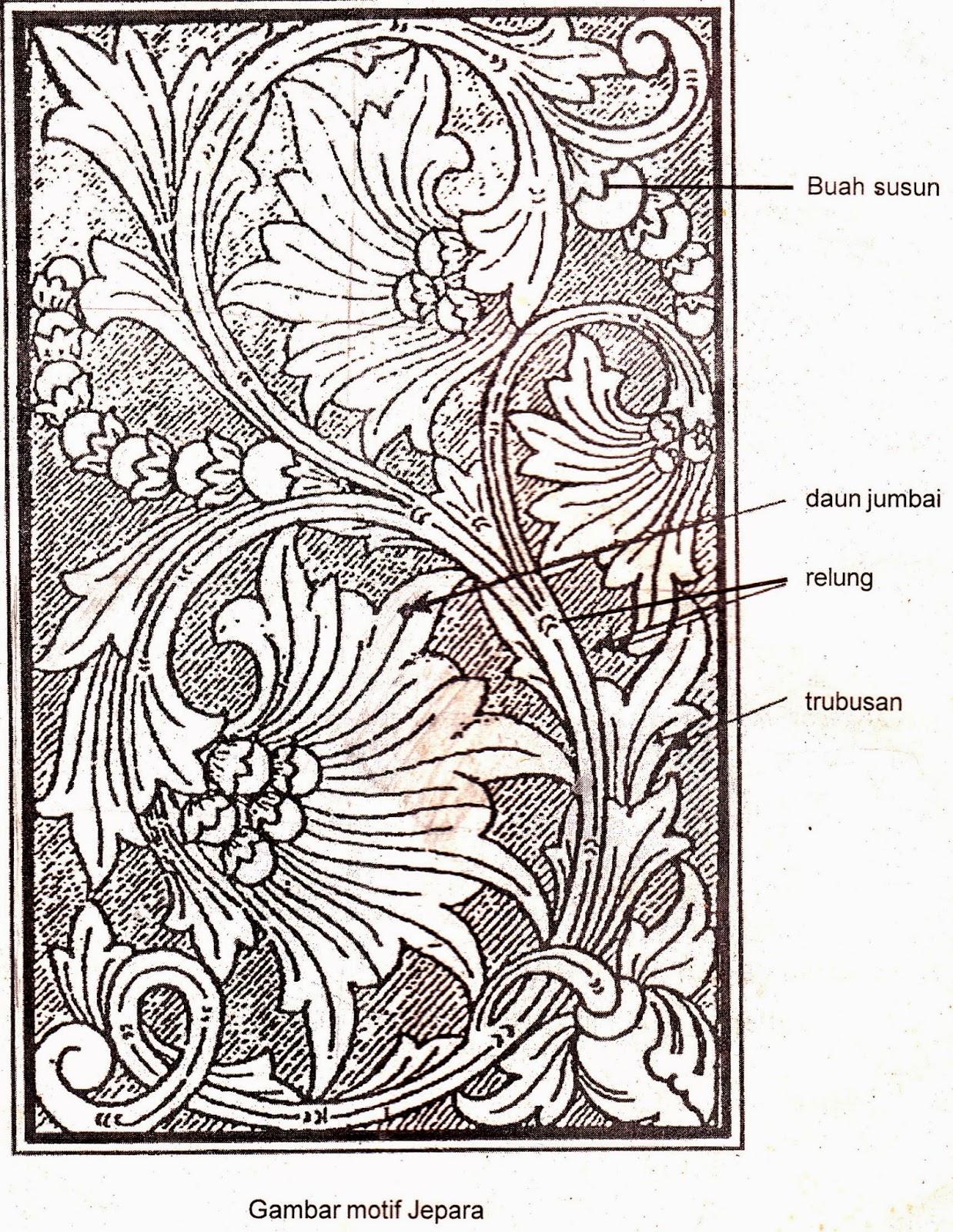Kumpulan Gambar Sketsa Batik Jepara