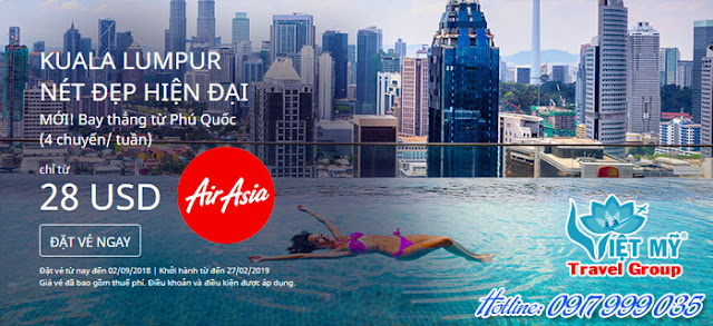 Khuyến Mãi Air Asia Kuala Lumpur nét đẹp hiện đại