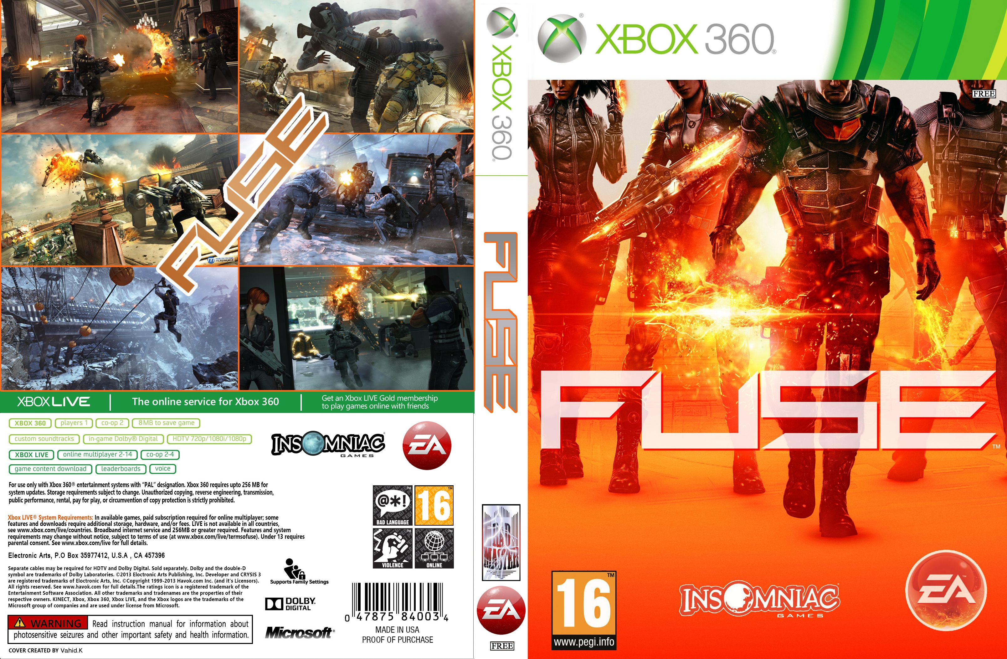 Box Cover For Fuse On The Microsoft Xbox 360 xbox one ... on