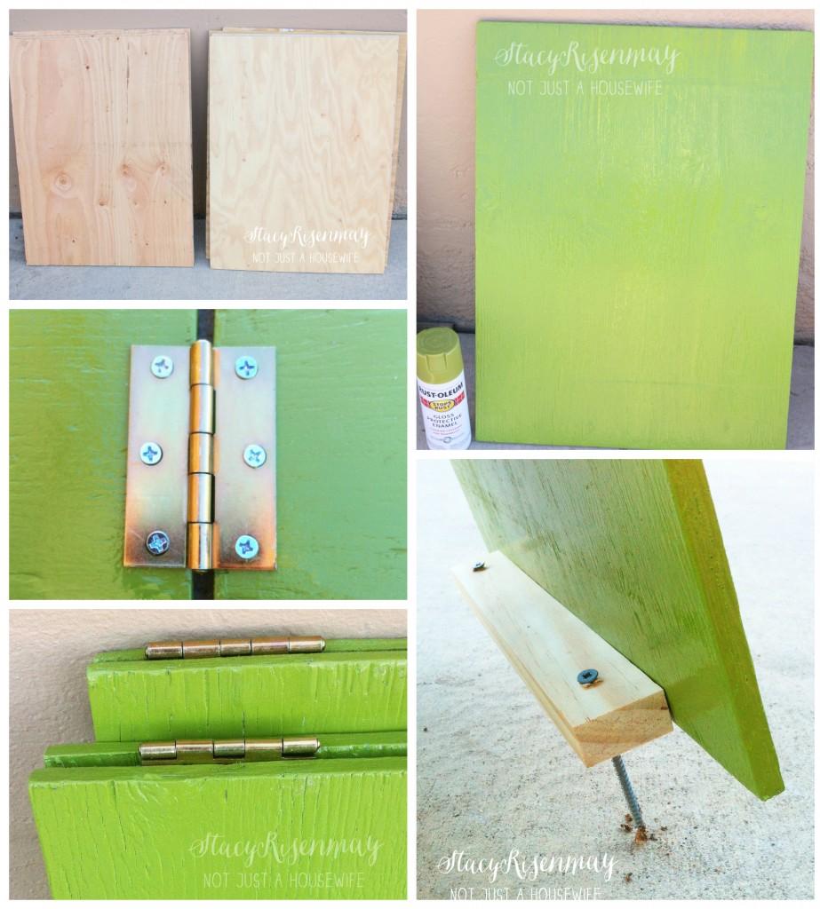 Como hacer asientos con tablas y bisagras