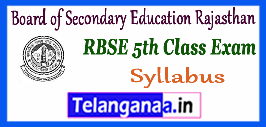 Board of Secondary Education Rajasthan 5th Board Syllabus 2018 Previous Papers