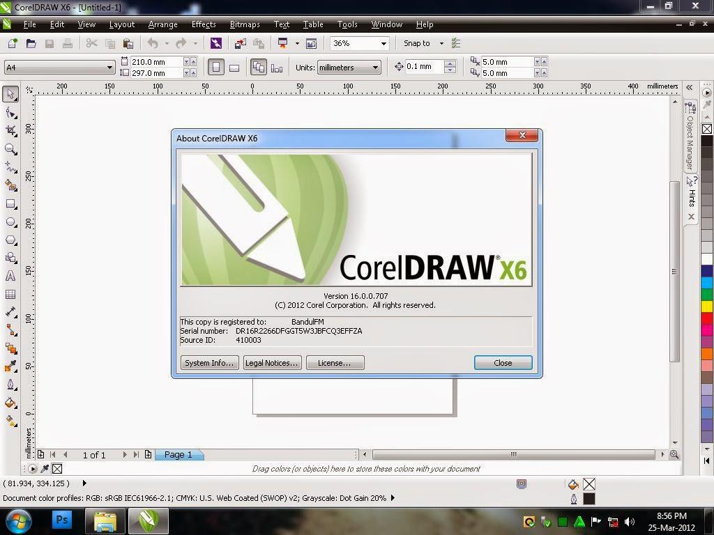 Gambar Aplikasi Corel Draw X7
