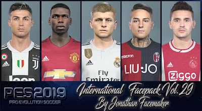 PES 2019 Facepack International Vol 29 by Jonathan Facemaker