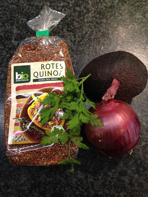 Quinoasalat Quinoa Rezept Grillbüffet vegetarisch