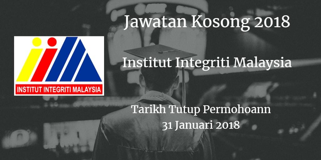 Jawatan Kosong INTEGRITI 31 Januari 2018