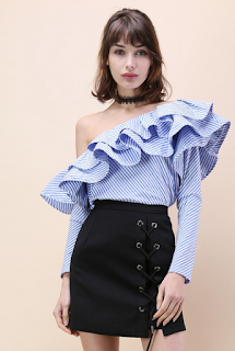 http://www.chicwish.com/swanky-one-shoulder-ruffle-striped-top.html