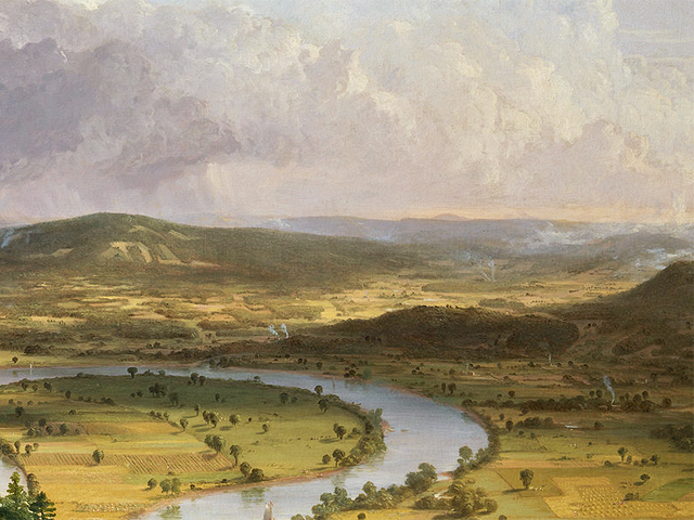 View from Mount Holyoke, Northampton, Massachusetts, after a Thunderstorm — The Oxbow, Thomas Cole, 1836