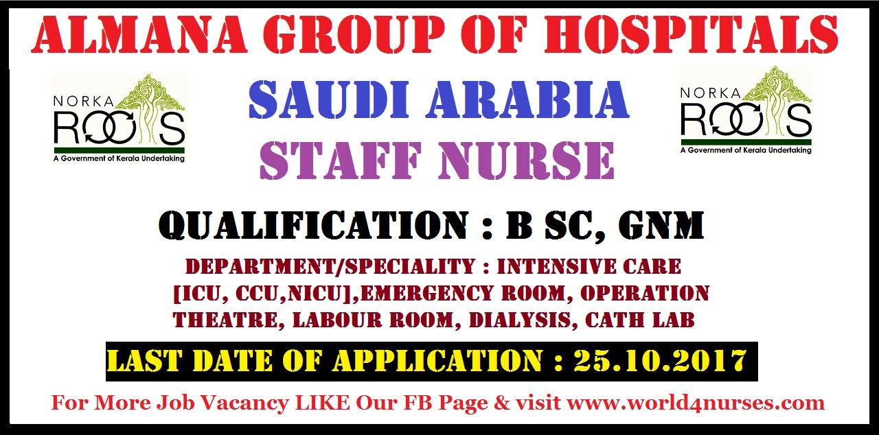 Abroad Staff Nurse Recruitment For Uk Ksa Moh Nursing Jobs