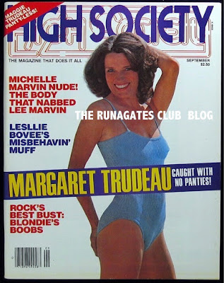 Margaret Trudeau - cover of HIGH SOCIETY, September 1979