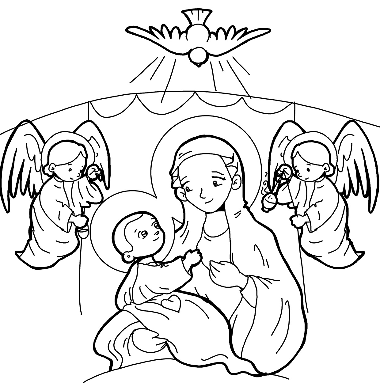Blog Católico Navideño ®: IMÁGENES DE LA VIRGEN MARÍA Y EL ESPÍRITU ...