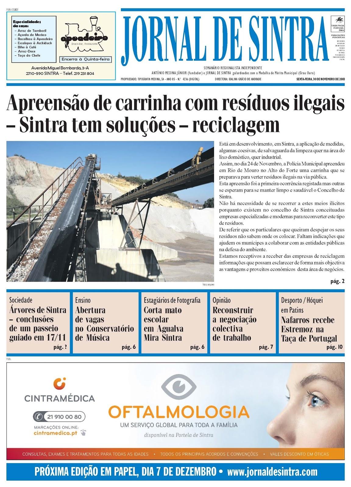 Capa da edição de 30-11-2018