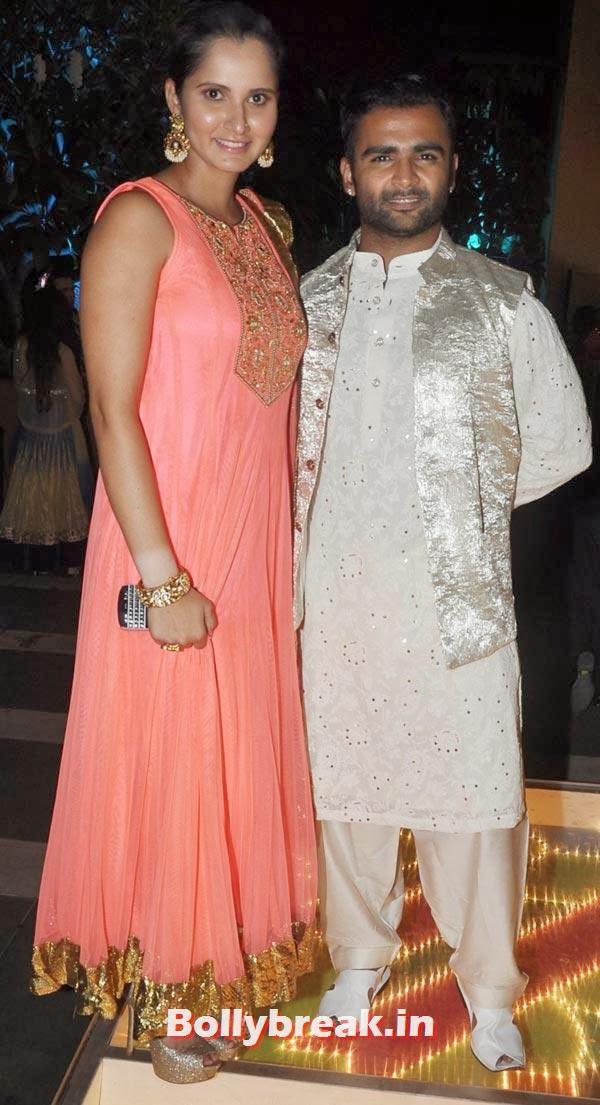 Sania Mirza, Sachiin Joshi and Urvashi Sharma's Diwali Party