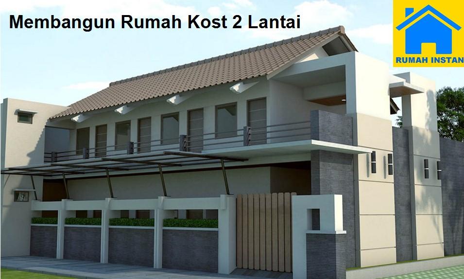 membangun rumah 2 lantai dengan biaya murah desain rumah