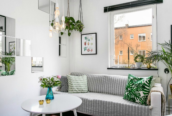 Decoraci n f cil mini apartamento con distribuci n ptima - Distribucion de salones ...