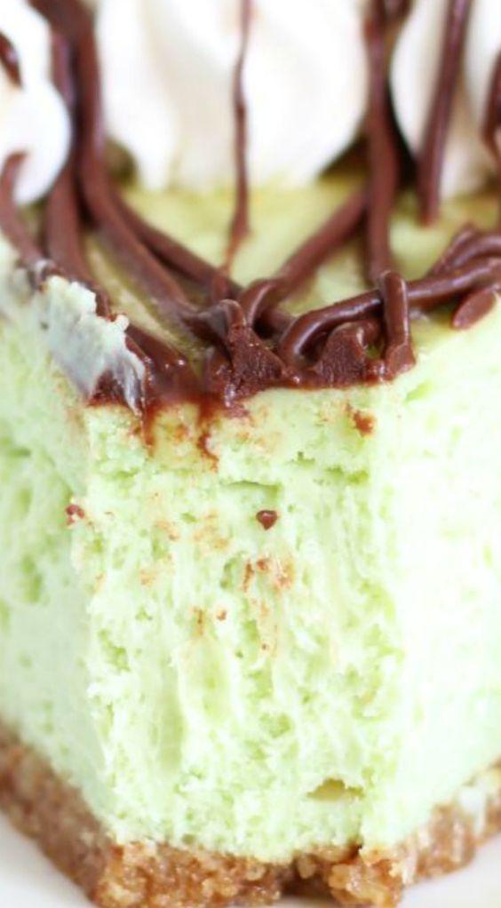 Amaretto Pistachio Cheesecake