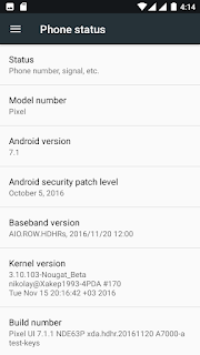 Custom Rom Pixel UI Nougat for Lenovo A7000