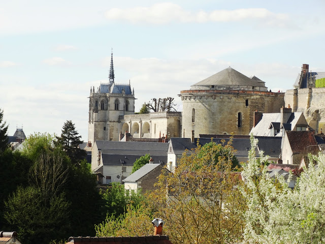 Chapel of Saint-Hubert  in the grounds of Chateau d'Amboise as seen from Clos Luce