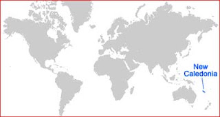 Gambar Peta letak Kaledonia Baru