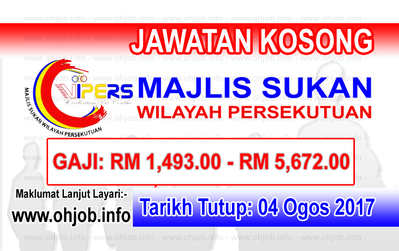 Jawatan Kerja Kosong Majlis Sukan Wilayah Persekutuan - WIPERS logo www.ohjob.info ogos 2017