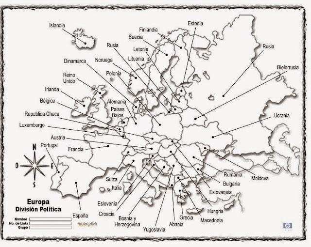 IES CUMBRES ALTAS GEOGRAFA Mapa de Europa Poltico y Fsico
